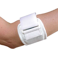 FLA Orthopedics 19-201UNSTD Tennis Elbow Strap-White-Universal