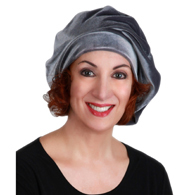 Turban Diva Desgins 702-19 Ladies Velvet Beret-Gray